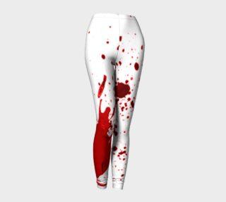 Blood Splatter First Cosplay Halloween Leggings preview