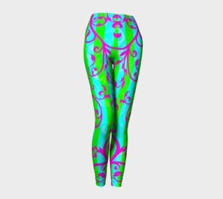 Aperçu de Vibrant Vines Cyber Goth Raver Leggings