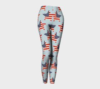 USA Flag Stars Patriotic Leggings preview