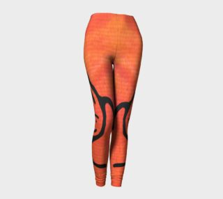 red leggings with whale petroglyphs preview