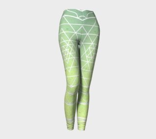 Aperçu de Green gradient sri yantra yoga pants