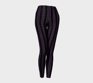 Iris Purple Striped Damask Goth Leggings preview