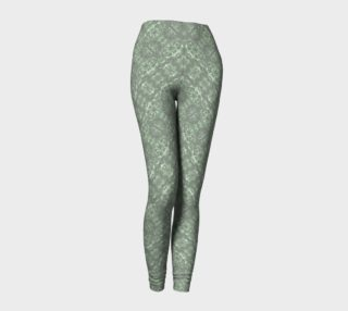Ghost Green Goth Damask Leggings preview