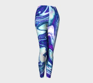 Aperçu de Jillian Marble Purple Teal Legging
