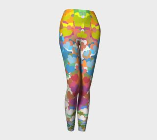 Pastel Tiny Confetti Hearts Leggings preview