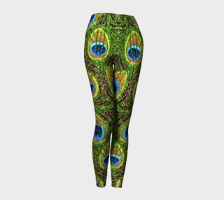 Peacock Feather Glitter Print Leggings preview