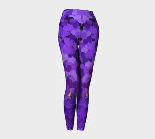 Aperçu de Purple Tiny Confetti Hearts Leggings