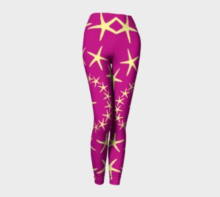 Starfish - Yellow on Pink preview