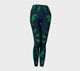 Seahorse - Green on Navy preview