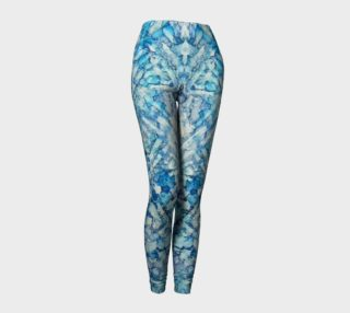 Indigo Trails Ink #14 Yoga Leggings preview