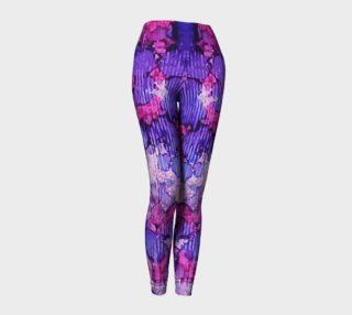 Raspberry Rain Ink #19 Yoga Leggings preview