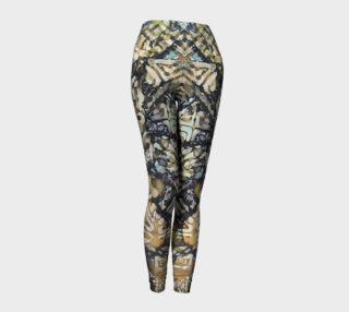 Bark Batik Ink #22 Yoga Leggings preview