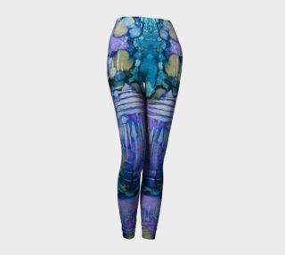 Spring Weave Ink #4 Yoga Leggings preview