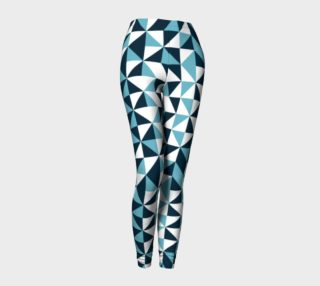Blue Triangles Leggings preview