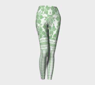 Green Lace Holiday leggings preview