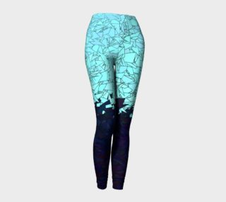 Montreal Ice Blue and Purple Ombre Urban Camouflage Leggings preview