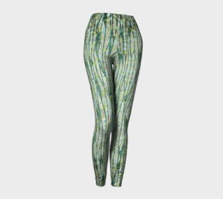 Blue Green Black Nature Floral Leggings preview