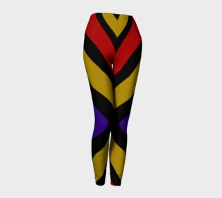 Aperçu de Ulla Print--Leggings, Multi-Color Rounded Boxes on Black Background--Red, Purple, Gold