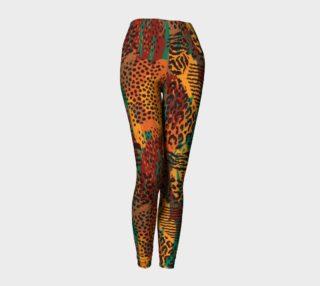 Safari Animal Print Mashup Leggings preview