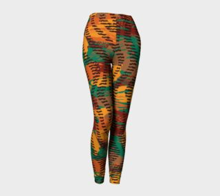 Abstract Animal Stripes Leggings preview