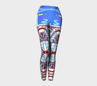Aperçu de Fashion Art Yoga / Virtual Short-Shorts over Spiral-Print Leggings