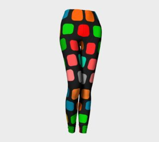 Aperçu de Ulla Print--Leggings, Multi-Color Rounded Boxes on Black Background--Red, Purple, Gold--Alt