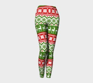 Ugly Christmas sweater leggings preview