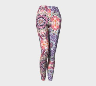 Purple and Pink Kaleidoscope Leggings preview