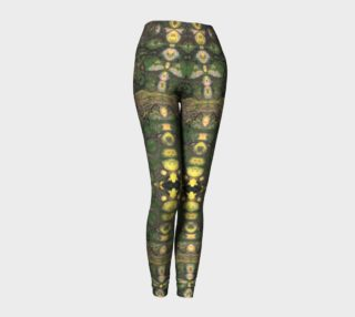 Bees Knees Abstract Yellow Green Long Leggings preview