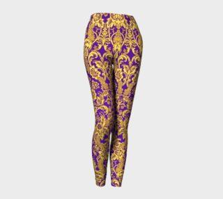 Aperçu de damask in purple and gold