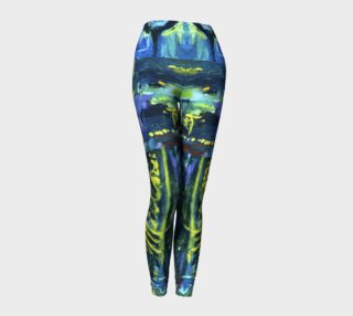 Lady Nighthawk Night Has Eyes Painted Leggings preview