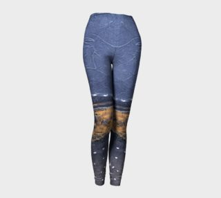 Goth/Cosplay Midnight Beach, Lux-Surface-Look Leggings preview