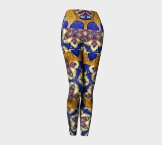 Busy Beehive Leggings with Egyptian-Eye Feathers preview