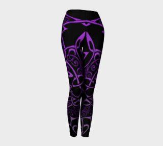 Aperçu de Purple Celtic Ombre Leggings, Celtic Branches, Celtic Flowers