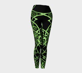 Aperçu de Celtic Knot Branches, Electric Green, Flowers, Leggings