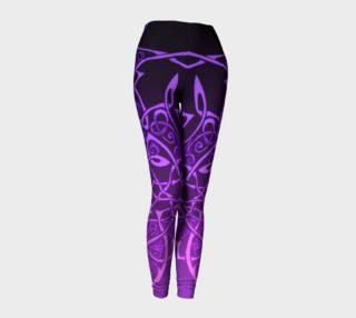 Aperçu de Hot Purple Ombre, Celtic Knot, Branches Flowers, Leggings