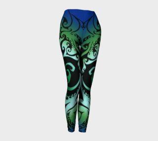 Aperçu de North Atlantic II - Blue Green Ombre - Traditional Celtic Spiral Yoga Raver Pants
