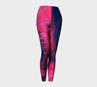 Pink Blue Doodles Leggings preview