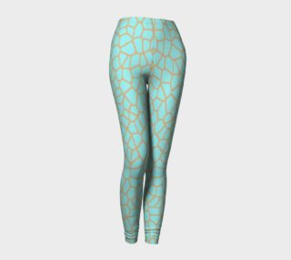 Aperçu de staklo (aqua/coffee) leggings