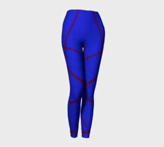 Aperçu de Red Sprawls on Blue Leggings