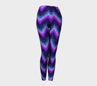 Purple Chevrons with Marble Texture Leggings preview