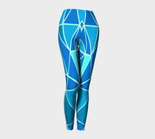 Aperçu de Blue Geometric Adult Leggings