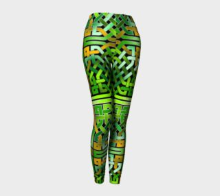Green Irish Celtic Knot Leggings preview