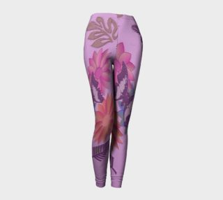 Faux Embossed Lavender Leggings 101-2 preview