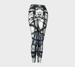 White, Black, and Blue Leggings preview