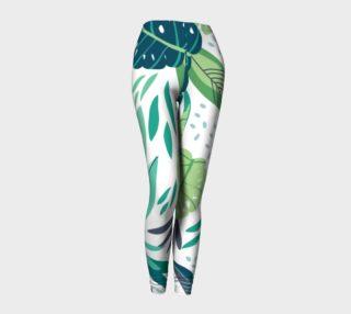 Aperçu de Tropical Green Leafs Pattern