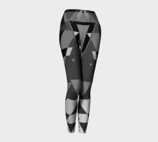 Black Liquor Geometric All Over Print leggings  preview