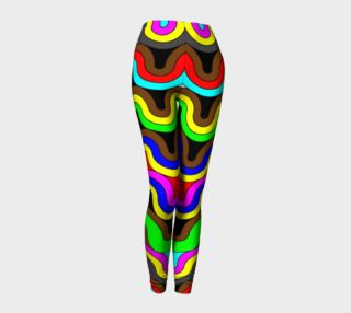 Trippy Florescent Swirly All Over Print Leggings  preview