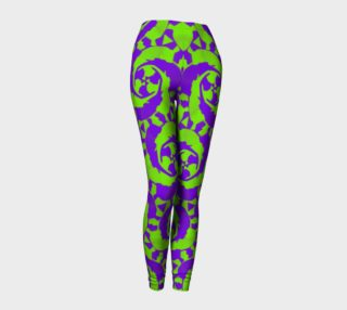 Trippy Purple Green Abstract All Over Print leggings  preview