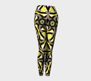 Yellow Brown All over print leggings  preview
